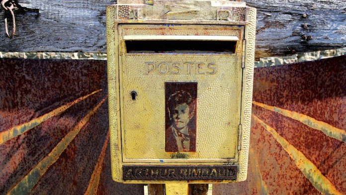 More than 120 years after Rimbaud's death, letters are still sent to this letterbox in the cemetery where he is buried in Charleville-Mézières