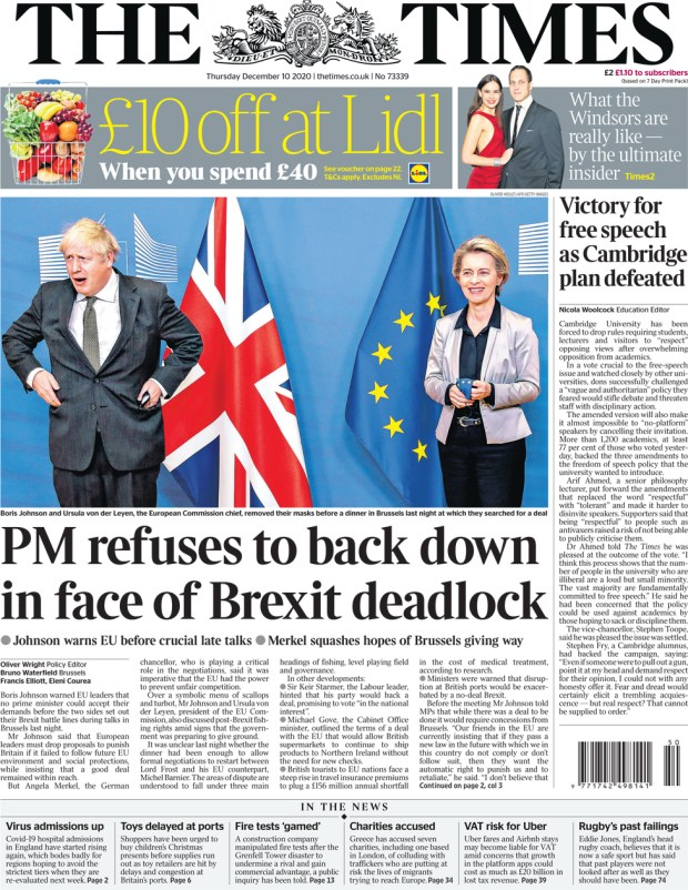 The Times 10 December