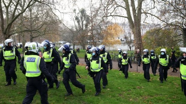 A number of police in London
