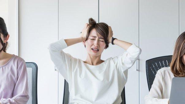Mujer frustrada.
