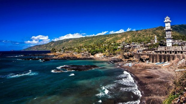 The city of Domoni on the west coast of Anjouan island, which is part of the Union of the Comoros