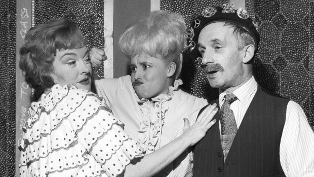 With Beryl Reid and Dermot Kelly in an edition of Comedy Playhouse in 1976
