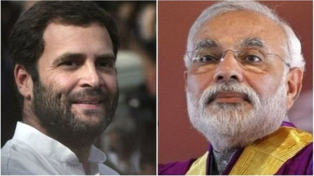 راہل گاندھی اور نریندر مودی