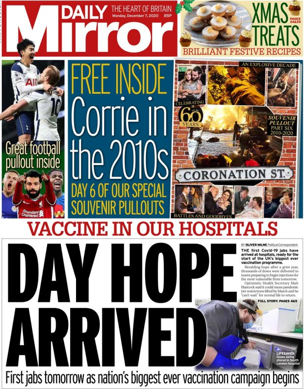 The Daily Mirror 7 December