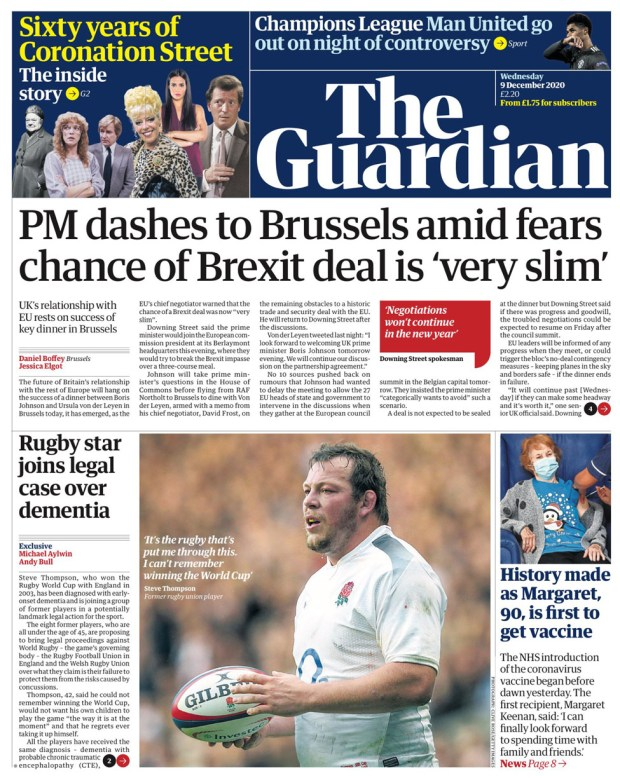 The Guardian Wednesday 9 December