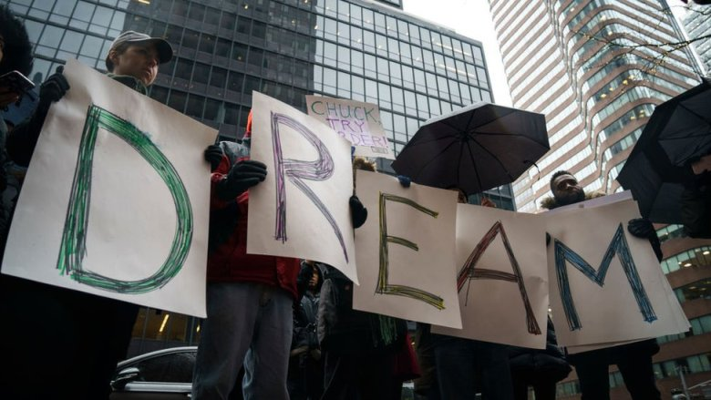 Manifestación de dreamers.