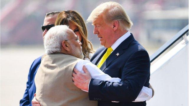 Narendra Modi, Donald Trump et Melania Trump