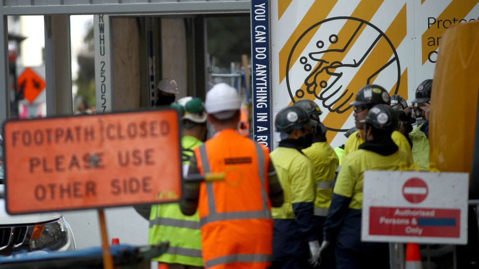 Construction workers back on site in Auckland