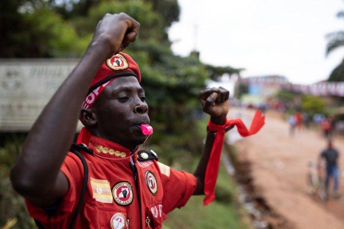 Bobi Wine supporter