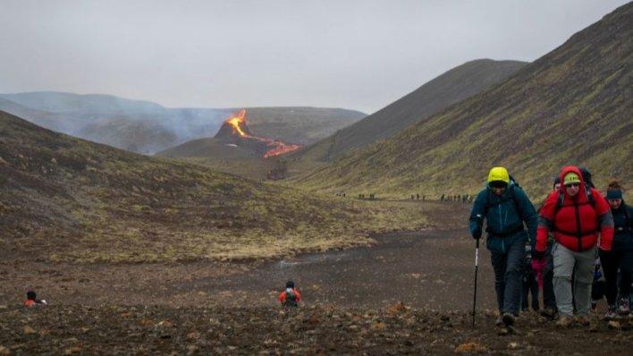 Iceland volcanic tourism