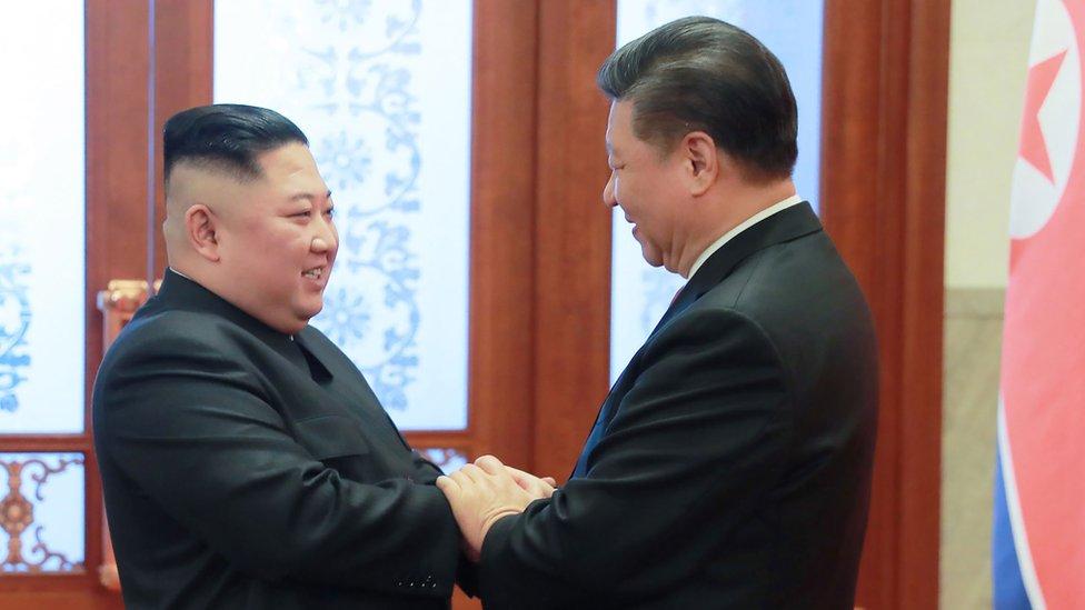 Kim Jong-un ile Çin devlet Başkanı Xi Jinping Ocak 2019'da Pekin'de görüştü.