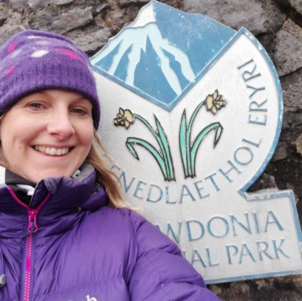 Helen Hancock on day she climbed Mount Snowdon