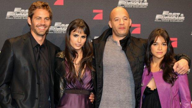 Paul Walker, Jordana Brewster, Vin Diesel and Michelle Rodriguez promoting Fast & Furious in Germany