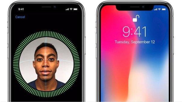 El iPhone X puede desbloquearse usando reconocimiento facial.