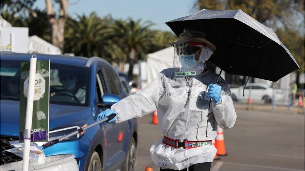 virus test, LA
