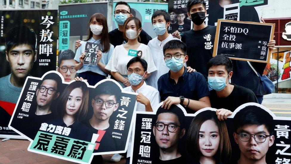 Hong Kong opposition activists