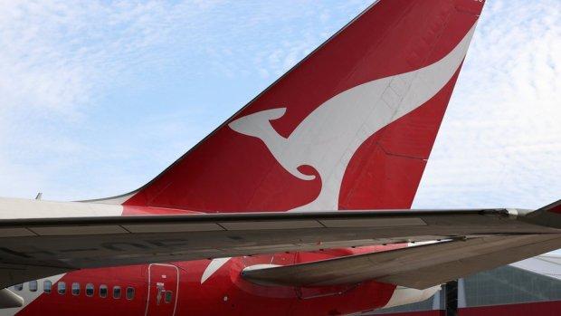 Qantas tail fin