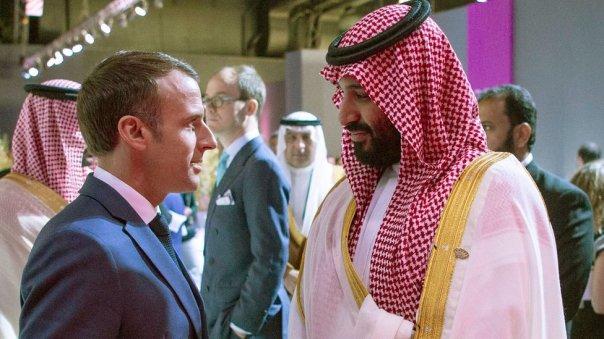 Macron y MBS