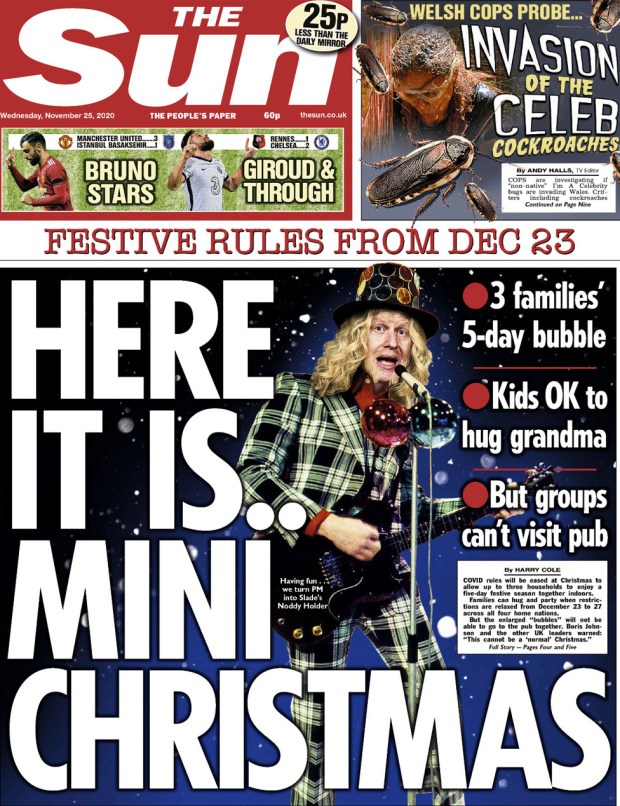 The Sun front page 25 November
