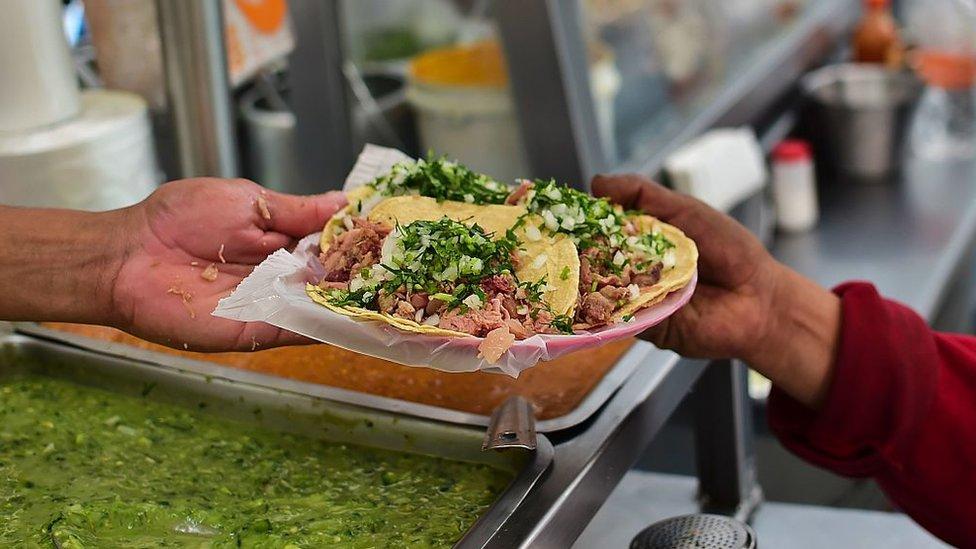 Comida callejera en México.