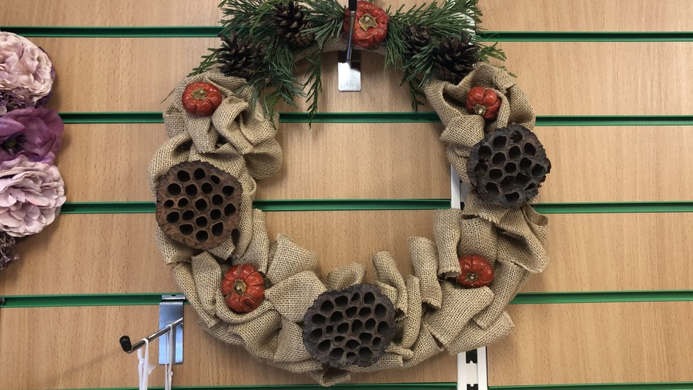 One of Sophie Southwood's Christmas wreaths