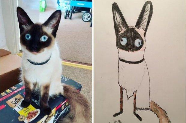 Cartoon of a cat