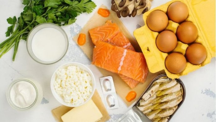 food - fish, eggs, dairy products