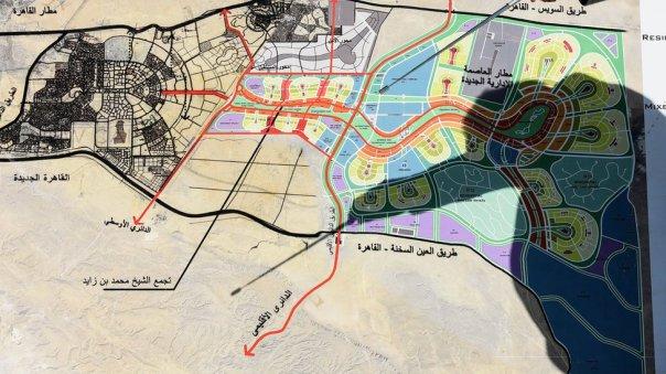 Plano de construcción de la nueva capital administrativa de Egipto