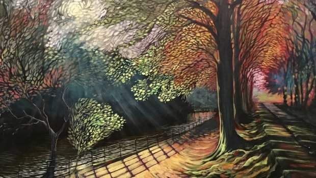 Carl's painting of the Taff Trail