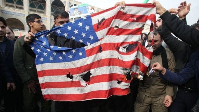 Bandera estadounidense rota