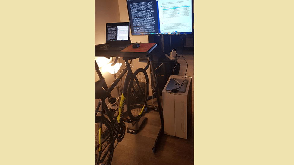 Kane Fulton's bike desk