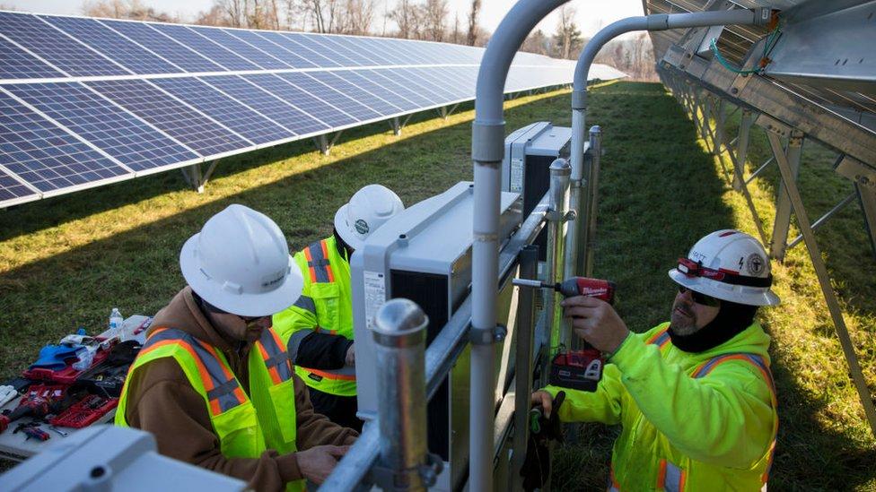 Solar farm being built