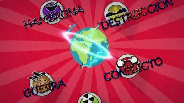 Hambruna, destrucción, guerra, conflicto.