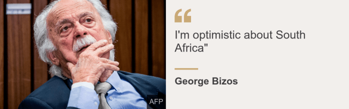 Quote card. George Bizos: