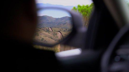 vista desde coche patrulla