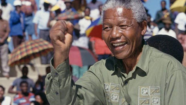 Nelson Mandela on the campaign trail