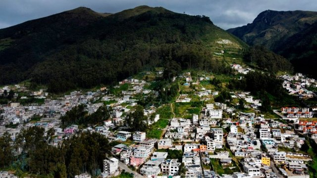 Vista aérea de Santa Clara de San Millán en Ecuador.
