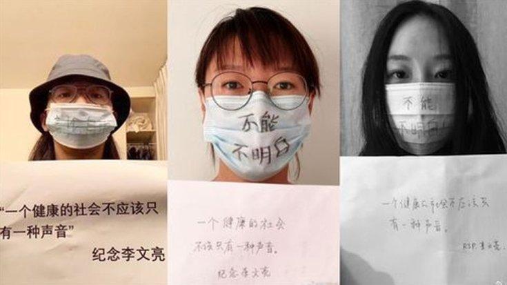 ली वेनलियानग की मौत के बाद नेटिज़ेंस ने एक मुखौटा विरोध प्रदर्शन किया