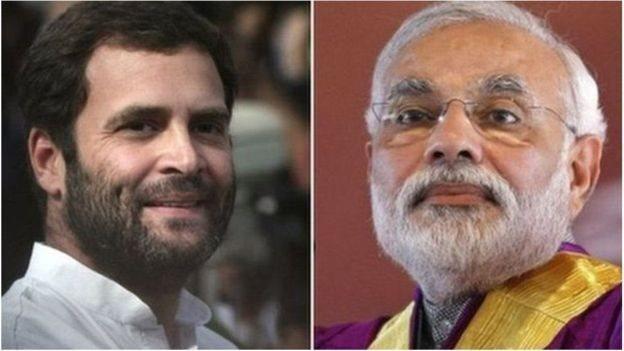 نریندر مودی اور راہل گاندھی