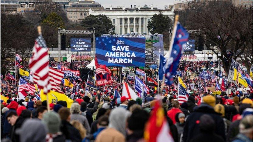 """116391116 gettyimages 1230451307 - Asalto al Capitolio: Las palabras que le costaron a Trump el segundo """"impeachment"""""""