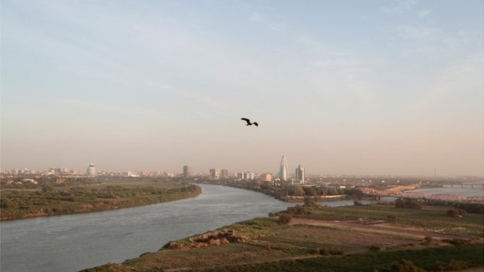 The Blue Nile and the White Nile converge in Khartoum - Sudan is worried too - the Blue and White Niles meet in Khartoum