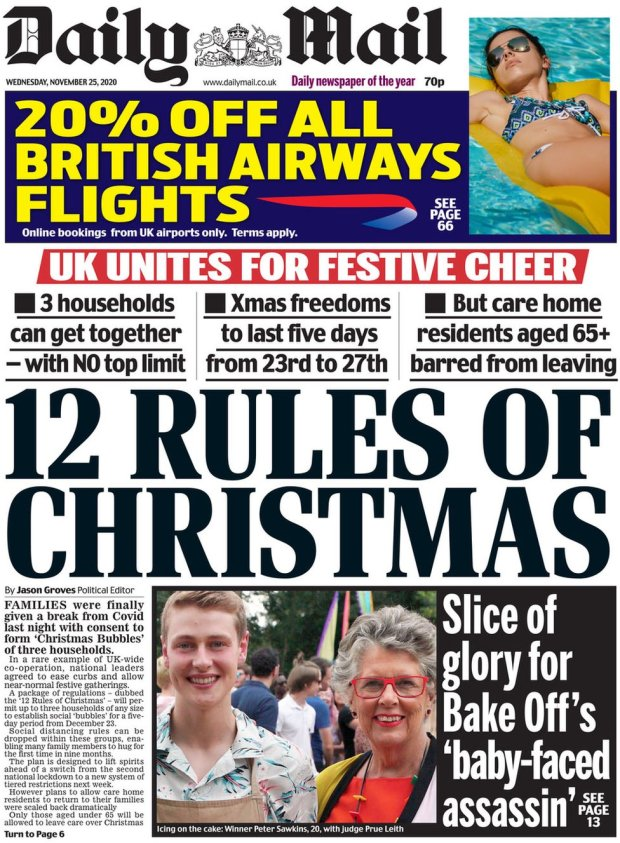 Daily Mail 25 November