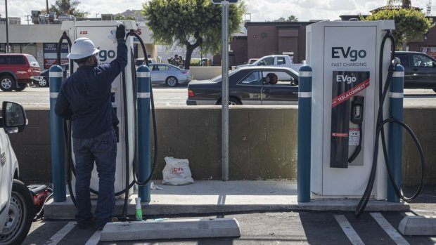 electric vehicle charging station in CA