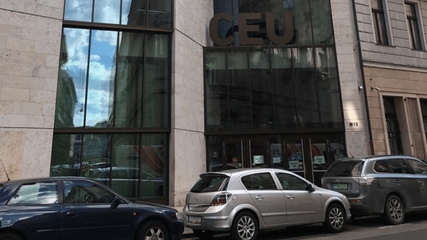 The old Budapest headquarters of CEU is mostly deserted now