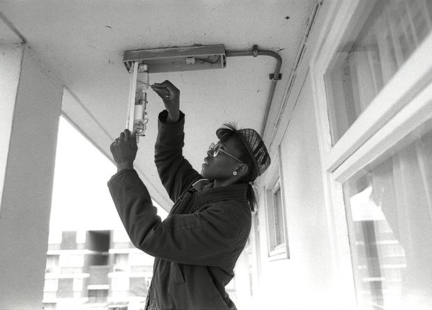 Electrician at work in Hackney