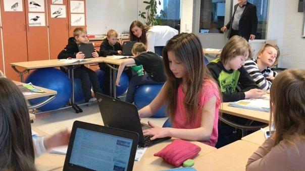 Un aula en Finlandia.