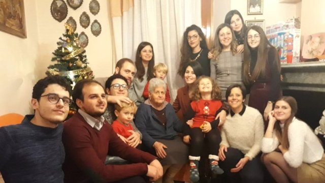 Image shows Nadia's family last Christmas