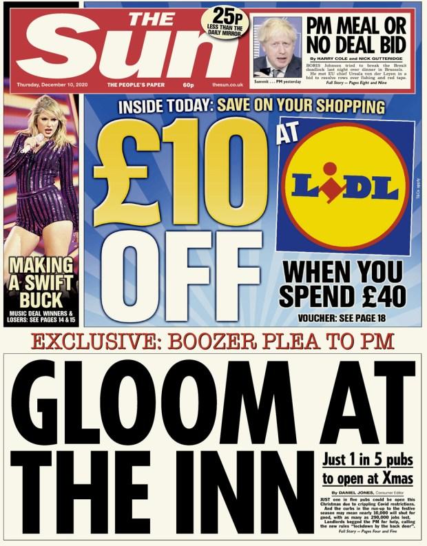 The Sun Thursday 10 December