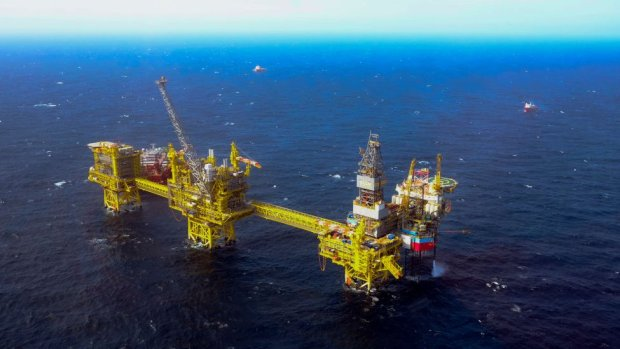 The Total Culzean platform is pictured on the North Sea, about 45 miles (70 kilometres) east of the Aberdeen, Europe's self-proclaimed oil capital on Scotland's northeast coast, on April 8, 2019