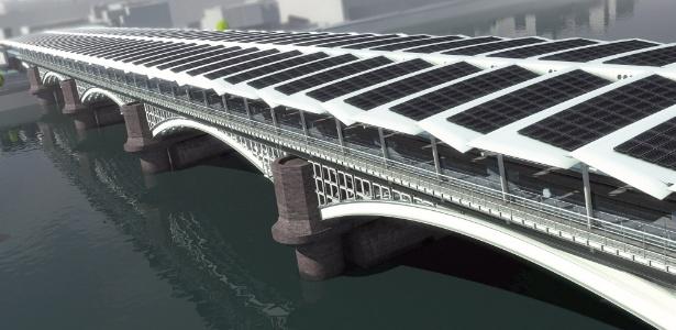 Sustentável: nova estação de Blackfriars terá 4,4 mil painéis solares sobre sua cobertura